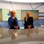 Dott.ssa Alina Pulcini Presidente dell'UICI Marche e Dott.ssa Cecilia Tombolini Oculista dell'università Politecnica delle Marche presso la Sede RAI delle Marche per registrare un'intervista