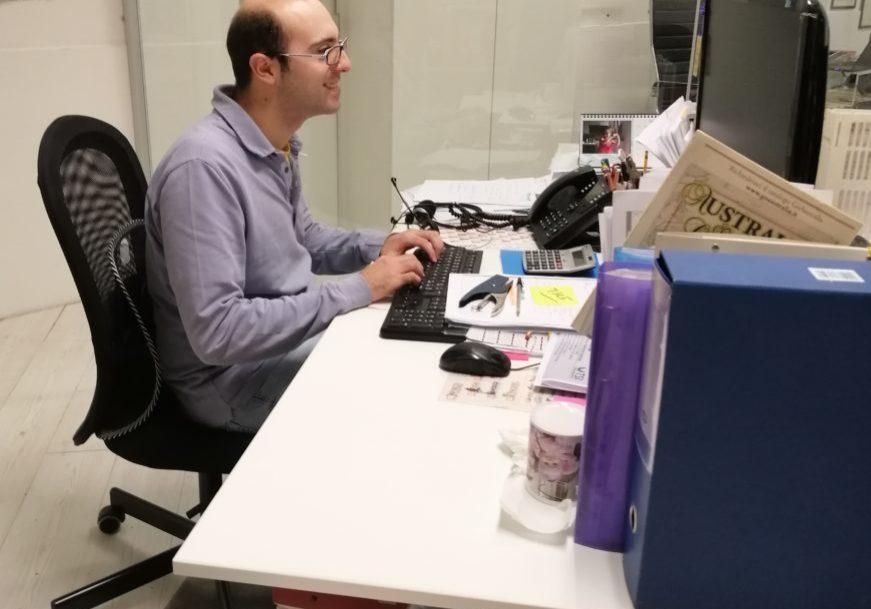 Foto Michael al lavoro